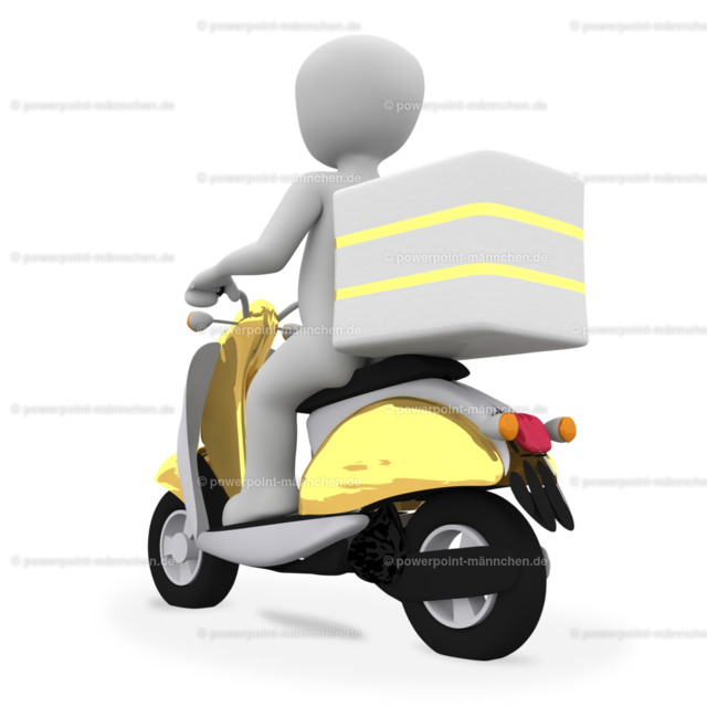 delivering guy riding a motorcycle (2) | https://3dman.eu jetzt 250 Bilder gratis sichern
