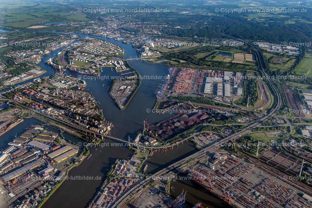 Hamburg Altenwerder HHLA_CTA_ELS_1073030617 | Hamburg - Aufnahmedatum: 01.06.2017, Aufnahmehöhe: 1530 m, Koordinaten: N53°32.539' - E9°55.350', Bildgröße: 7360 x  4912 Pixel - Copyright 2017 by Martin Elsen, Kontakt: Tel.: +49 157 74581206, E-Mail: info@schoenes-foto.de  Schlagwörter:Hamburg,Luftbild, Luftbilder, Deutschland