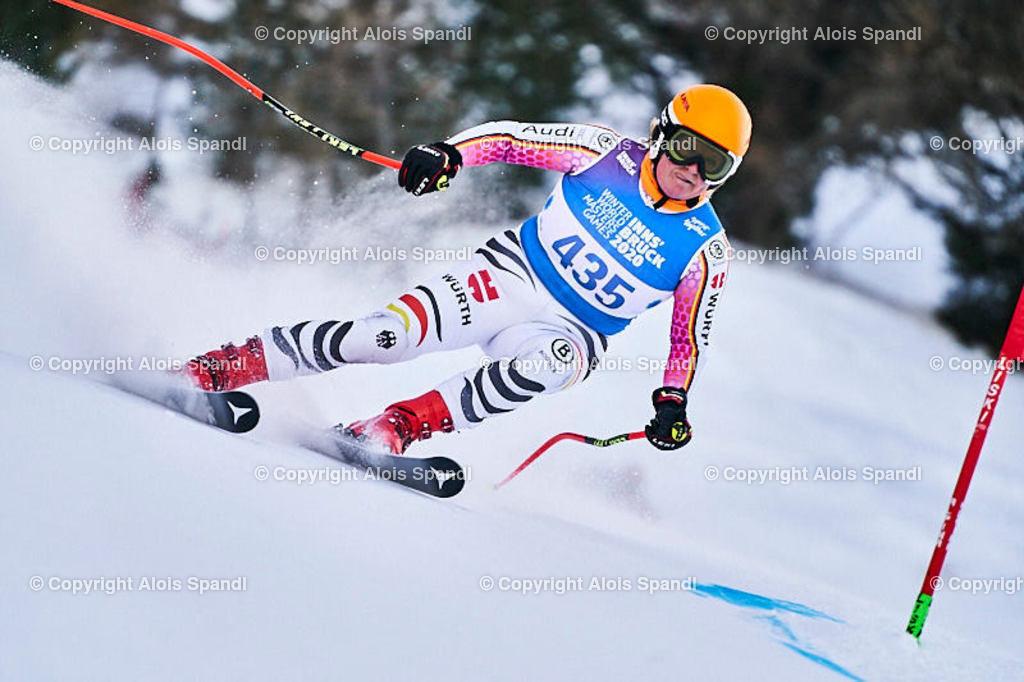 ALS5847_WWMG_GS-II_C | (C) FotoLois.com, Alois Spandl, WinterWorldMastersGames 2020 Innsbruck, Giant Slalom-II Gruppe C Damen, Patscherkofel Olympiaabfahrt, Mi 15. Jänner 2020.