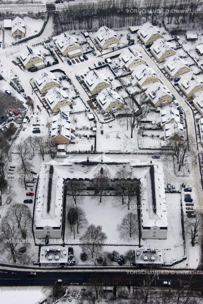 KT10011118 | Schnee,  Kettwig, Essen, Ruhrgebiet, Nordrhein-Westfalen, Deutschland, Europa, Foto: Luftbild Hans Blossey, Copyright: hans@blossey.eu, 06.01.2010, E 006° 56' 30.53