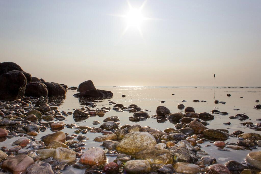 Strand in Damp | Sonne über der Ostsee in Damp