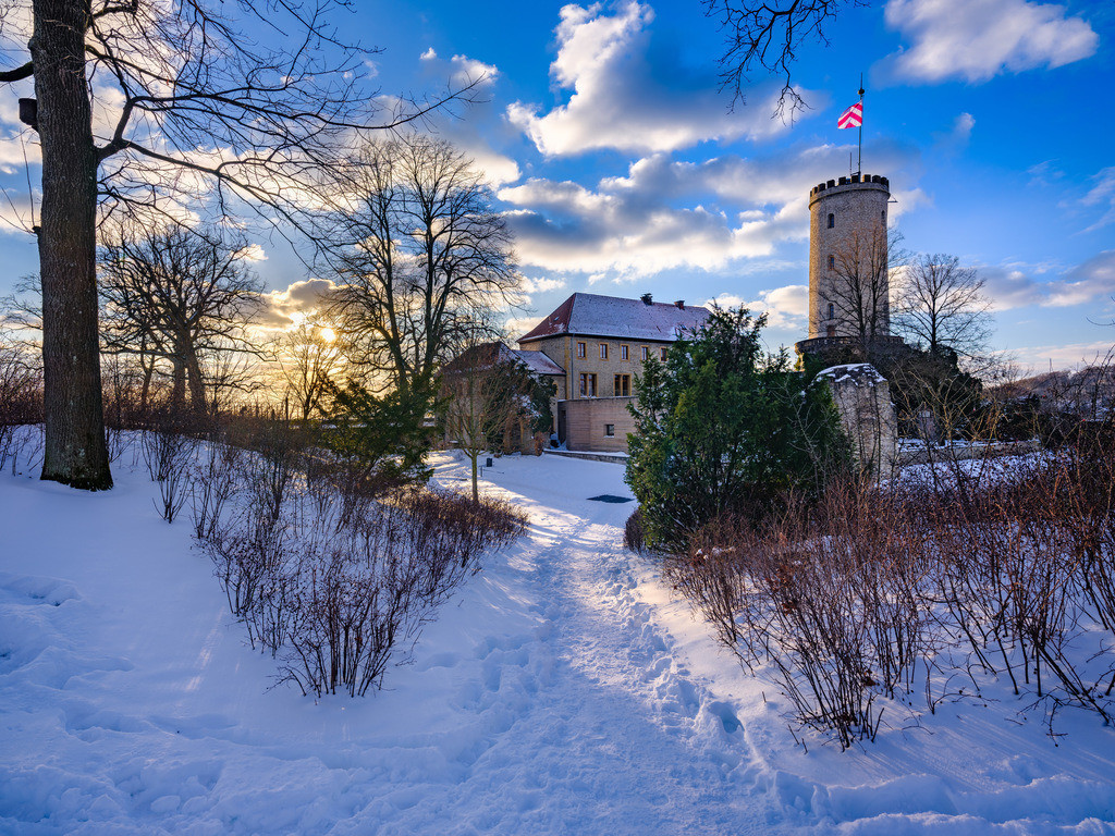 Winternachmittag auf der Sparrenburg | Winternachmittag auf dem Sparrenburg in Bielefeld im Februar 2021.