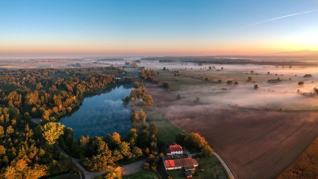 Herbststimmung im Ried bei Dundenheim