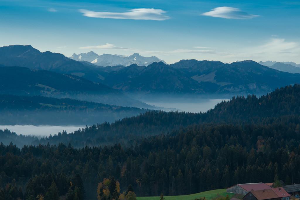 Nebel über dem Bregenzerwald