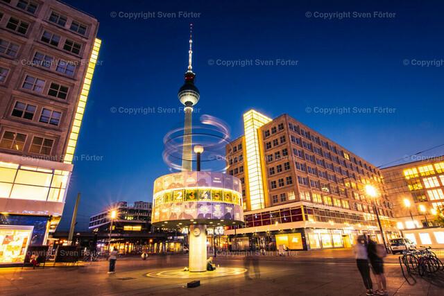 Berlin in der Dämemrung/Nacht