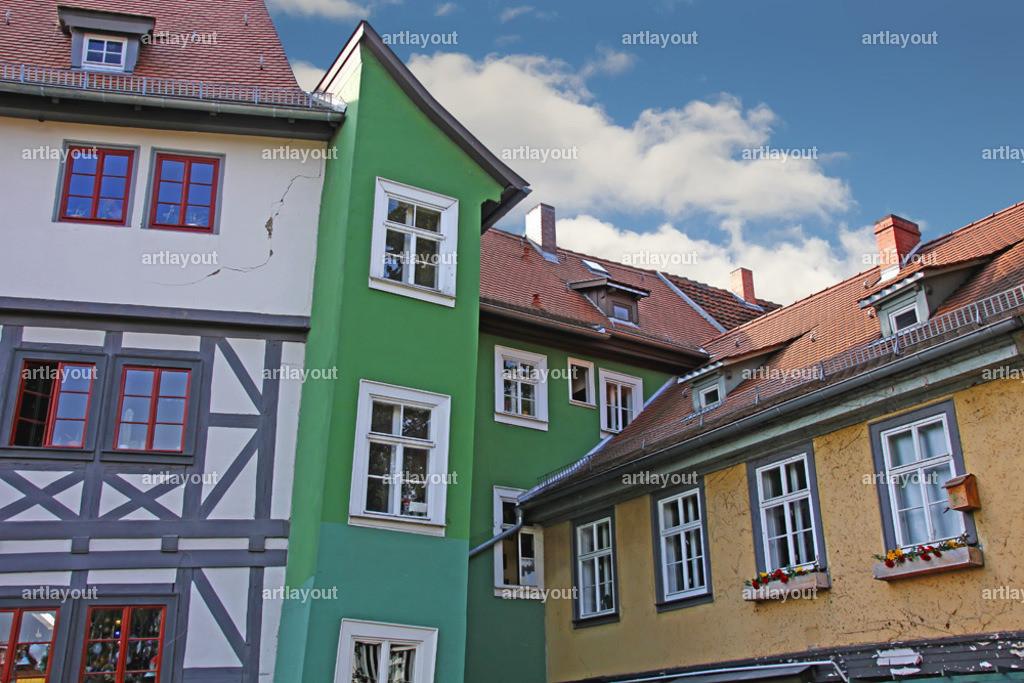 Erfurt | Häuser an der Krämerbrücke