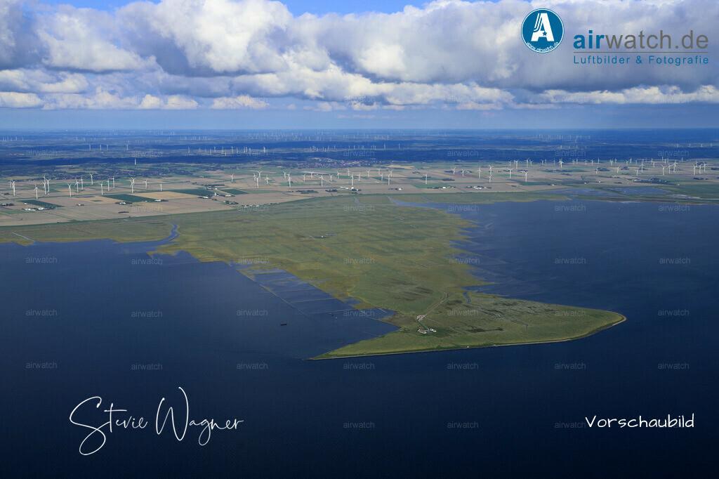 Hamburger Hallig - Immer ein Blick auf´s Meer   Nordsee, Hamburger Hallig, Luftbild, Luftaufnahme, aerophoto, Luftbildfotografie, Luftbilder • max. 6240 x 4160 pix
