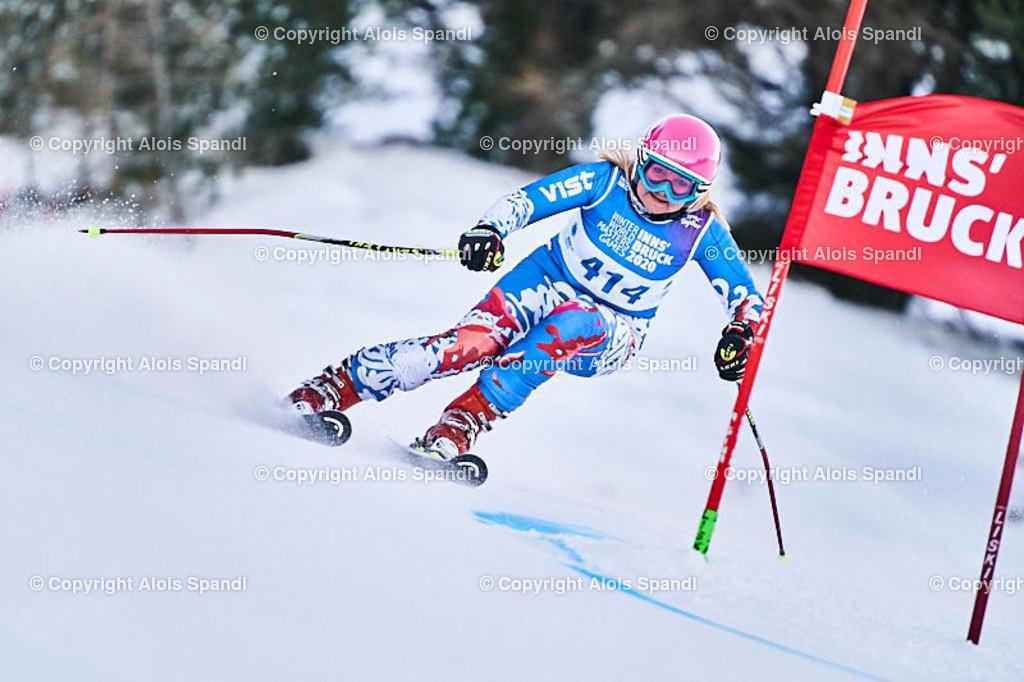 ALS5771_WWMG_GS-II_C | (C) FotoLois.com, Alois Spandl, WinterWorldMastersGames 2020 Innsbruck, Giant Slalom-II Gruppe C Damen, Patscherkofel Olympiaabfahrt, Mi 15. Jänner 2020.