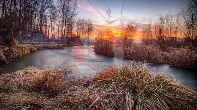 Sonnenaufgang  | Frühmorgens am Fischaufstieg in Au an der Donau