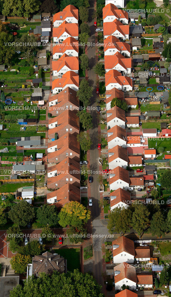 ES10098654 | Bergbausiedlung Boshamerweg, Essen-Karnap,  Essen, Ruhrgebiet, Nordrhein-Westfalen, Germany, Europa