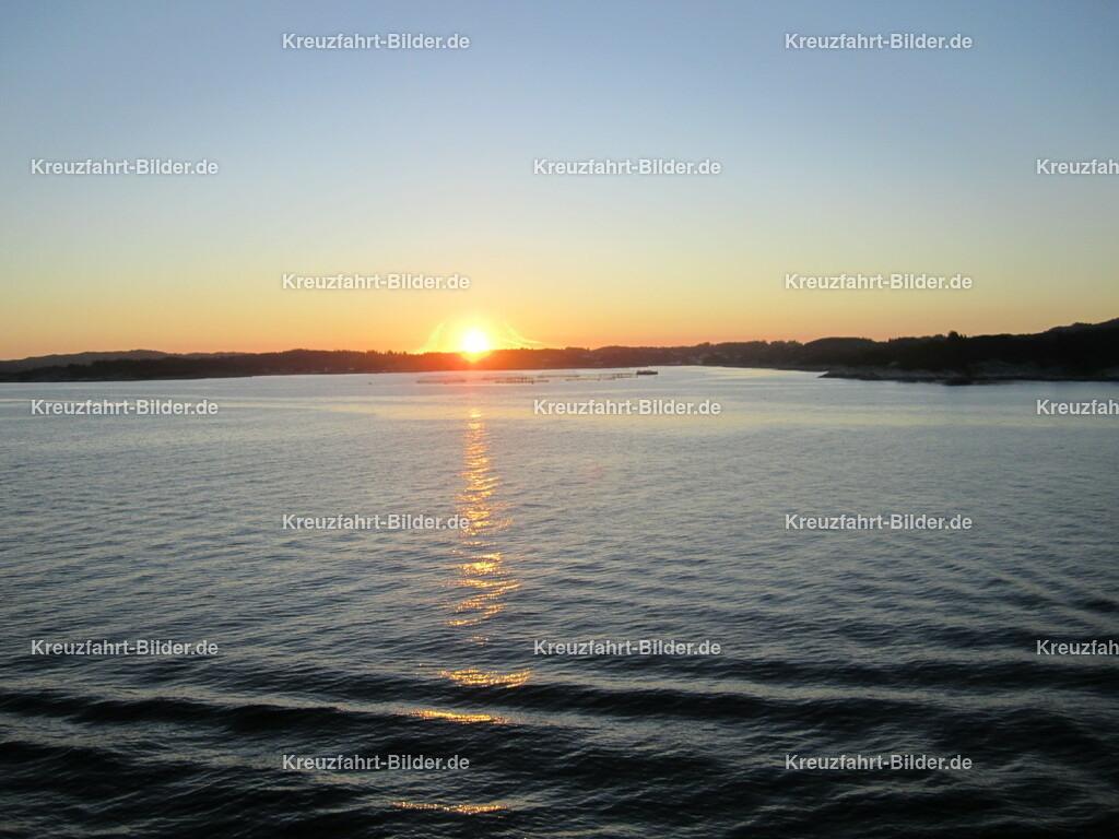 Sonnenuntergang in Norwegen | Aufgenommen auf einer Nordkapreise mit der MS Azores.