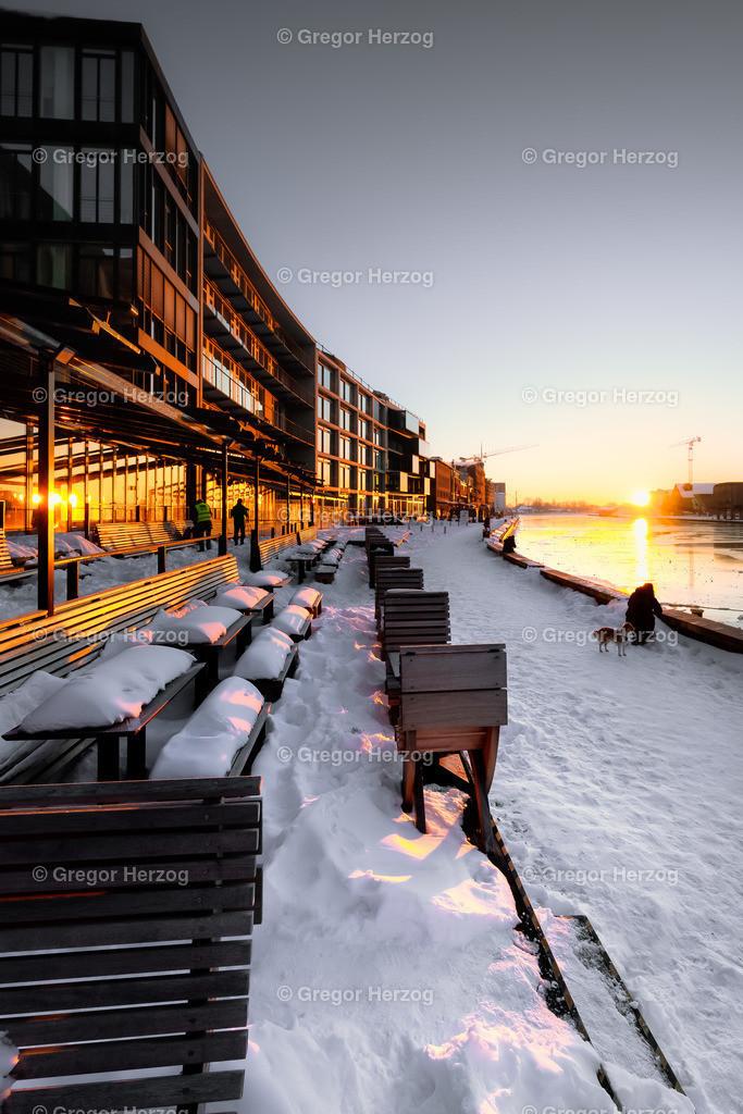 Frozen Harbor | Hafen Münster eingefroren bei -16 Grad am Morgen