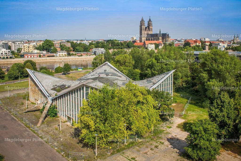 Luftbild Magdeburg Dom Stadtpark MDR Hypar-5456