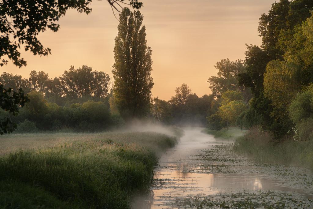 Sunrise Allerpark auf dem Kanal