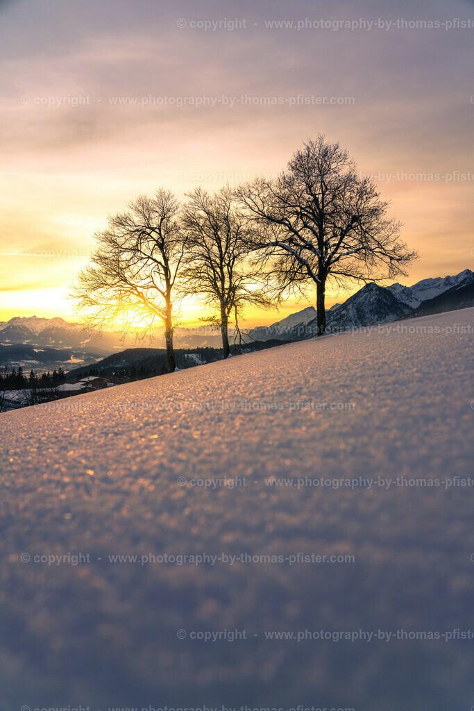 Gnadenwald Inntal Sonnenuntergang