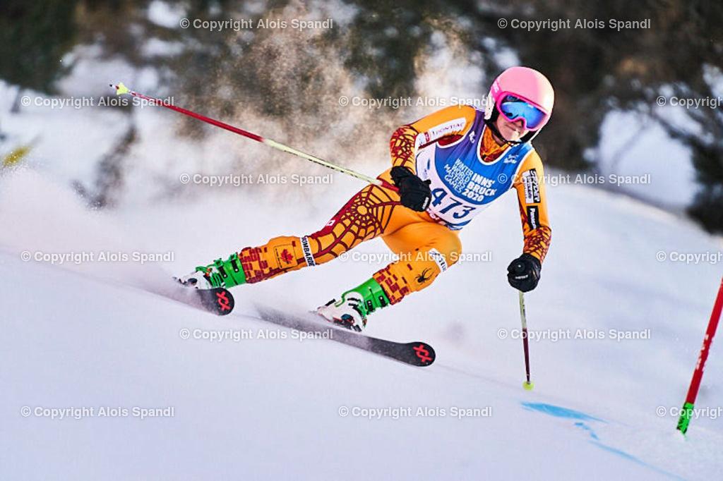 ALS6053_WWMG_GS-II_C | (C) FotoLois.com, Alois Spandl, WinterWorldMastersGames 2020 Innsbruck, Giant Slalom-II Gruppe C Damen, Patscherkofel Olympiaabfahrt, Mi 15. Jänner 2020.