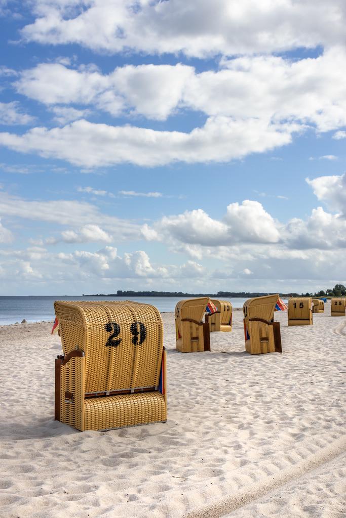 Strand in Kronsgaard | Strandkörbe am Strand in Kronsgaard