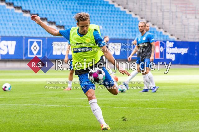 Fußball, Herren, Testspiel, Hamburger SV - FC Hansa Rostock, Volksparkstadion, 09.08.2020