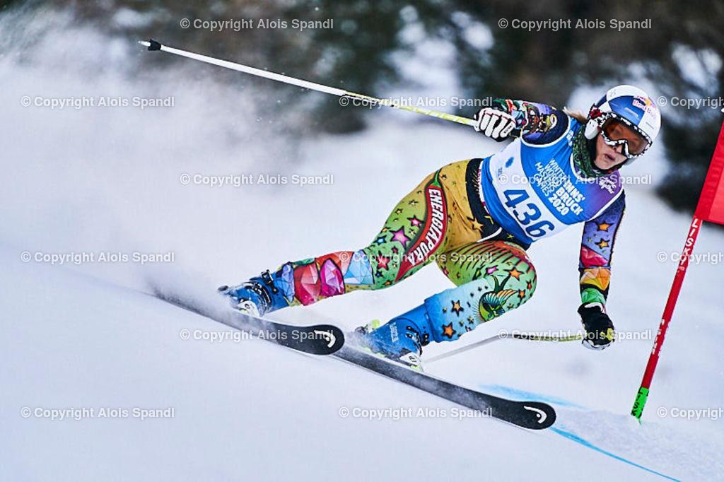 ALS5857_WWMG_GS-II_C | (C) FotoLois.com, Alois Spandl, WinterWorldMastersGames 2020 Innsbruck, Giant Slalom-II Gruppe C Damen, Patscherkofel Olympiaabfahrt, Mi 15. Jänner 2020.