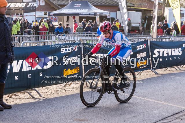 Radsport, Stevens Cyclocross Cup 2019, 10. Lauf (RSG Nordheide), Rennen 9 (Elite Herren + U23, Masters 2 / Elite Ü40 und Junioren U19), Buchholz i.d.N., 19.01.2020   Sebastian Hoffmann (Kieler Radsport Verein, #26, Elite)