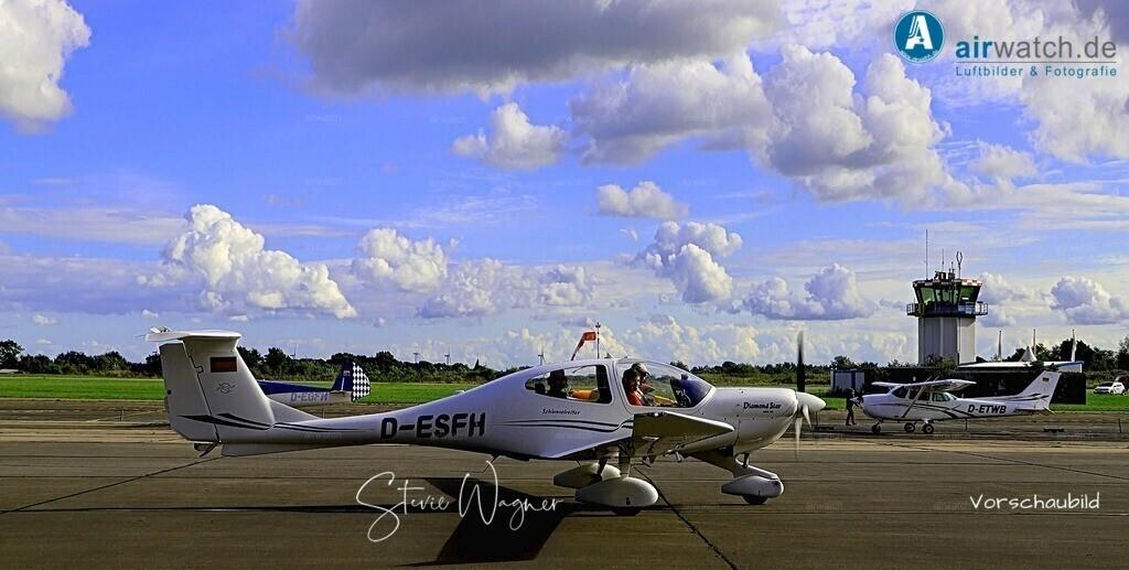 Flughafen Husum, DA 40, Elster-B, Piper L 18, Cessna 172   Flughafen Husum, DA 40, Elster-B, Piper L 18, Cessna 172 • max. 6240 x 4160 pix