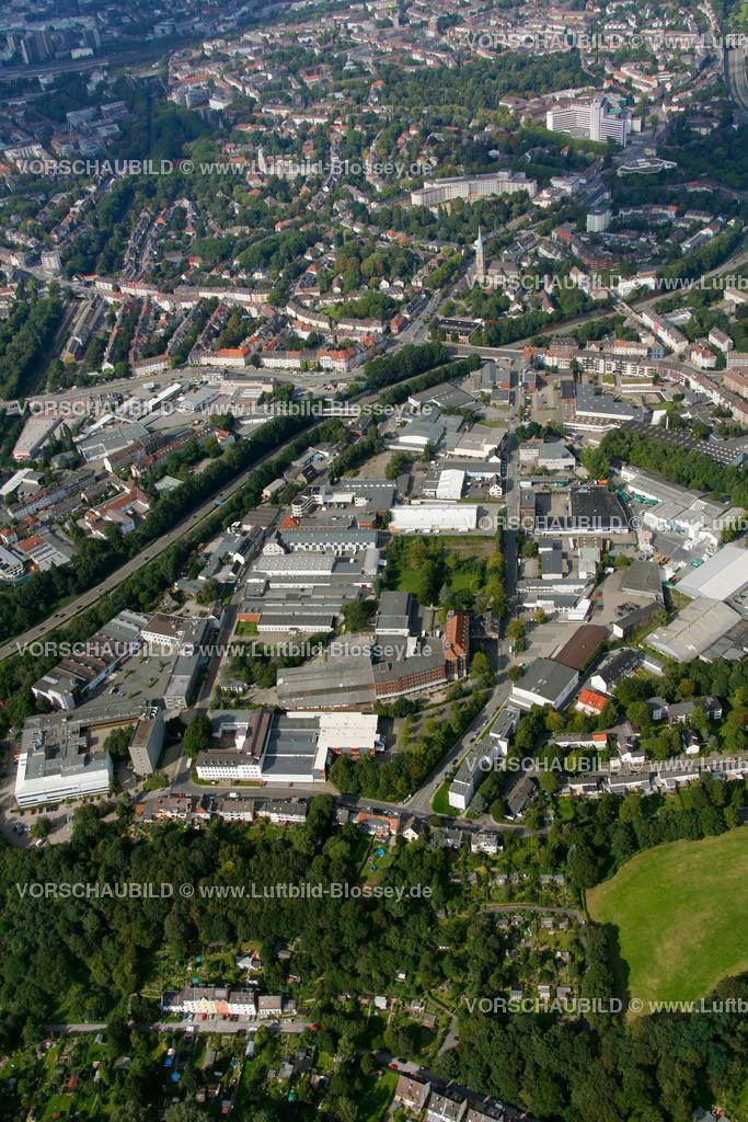 ES10094233 | Schuermannstrasse, Luftbild,  Essen, Ruhrgebiet, Nordrhein-Westfalen, Germany, Europa, Foto: hans@blossey.eu, 05.09.2010