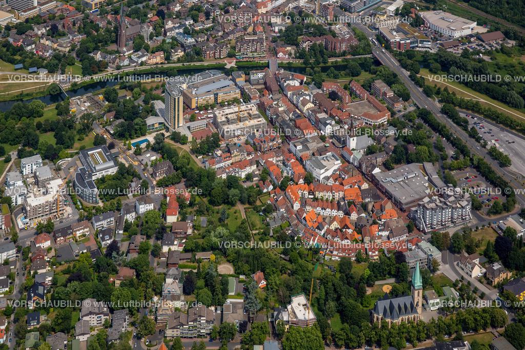 Luenen15072405-2   Blick auf den Stadtkern von Lünen mit dem Umbau des Hertie-Hauses, Lünen, Ruhrgebiet, Nordrhein-Westfalen, Deutschland