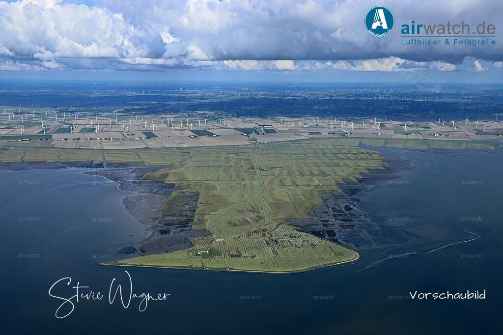 Hamburger Hallig - Die Badestelle 4 km vor dem Deich   Nordsee, Hamburger Hallig, Luftbild, Luftaufnahme, aerophoto, Luftbildfotografie, Luftbilder  • max. 6240 x 4160 pix