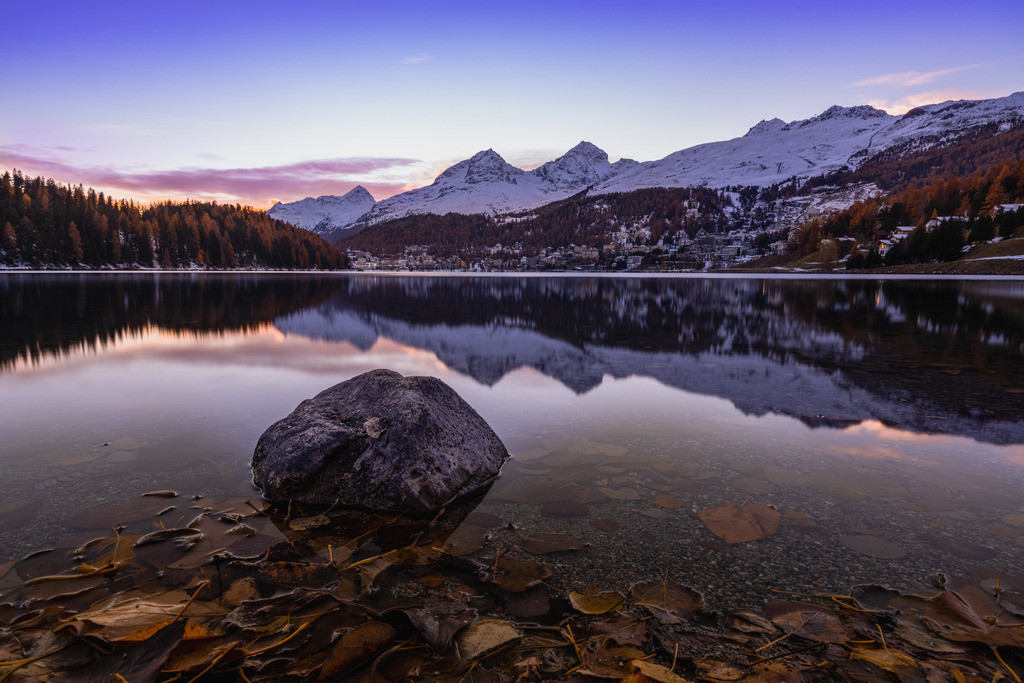 St. Moritz – Top of Europe   The night comes down in St. Moritz on an autumn evening in one of the most expensive places in Switzerland.