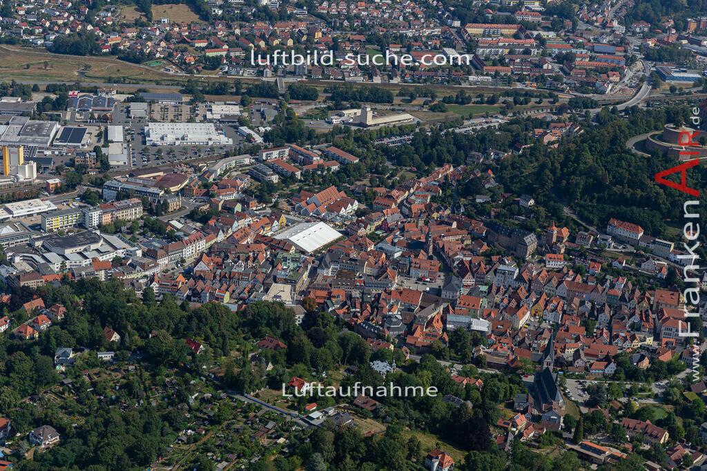 altstadt-kulmbach-19-673 | aktuelles Luftbild von Altstadt  Kulmbach - Luftaufnahme wurde 2019 von https://frankenair.de mittels Flugzeug (keine Drohne) erstellt.
