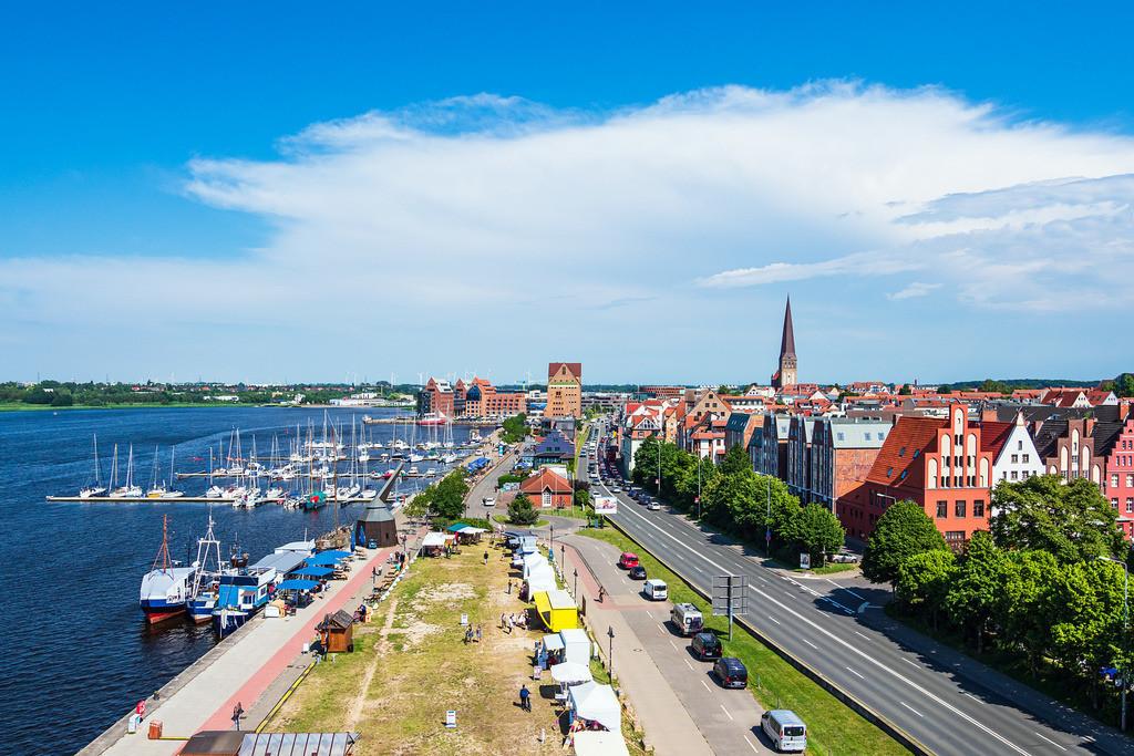 Blick auf den Stadthafen der Hansestadt Rostock | Blick auf den Stadthafen der Hansestadt Rostock.