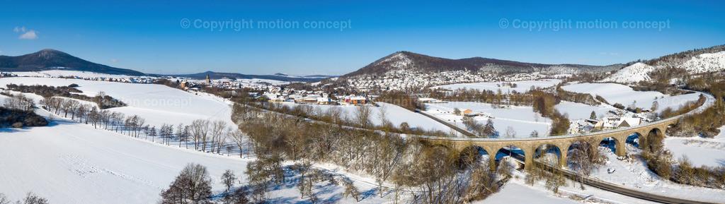 Panorama_Zierenberg vom Viadukt Richtung Schreckenberg