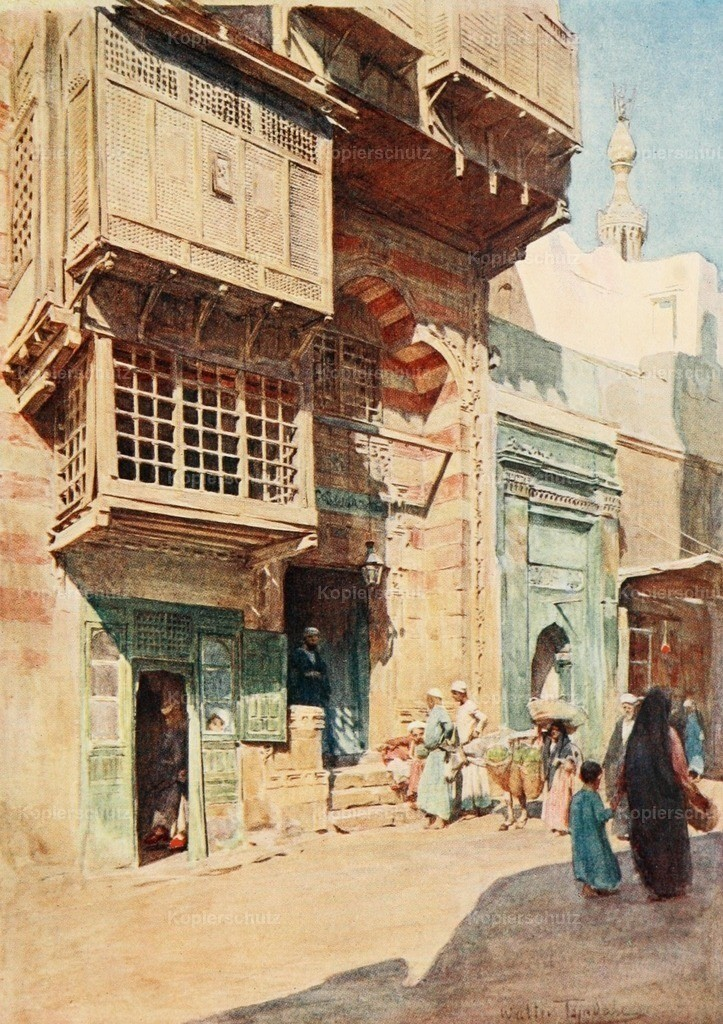Tyndale_ W. (1855-1943) - Below the Cataracts 1907 - The Sheyk_s house in the Nahassin_ Cairo