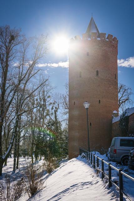 Winter an der Stadtmauer   Ansicht aus Prenzlau