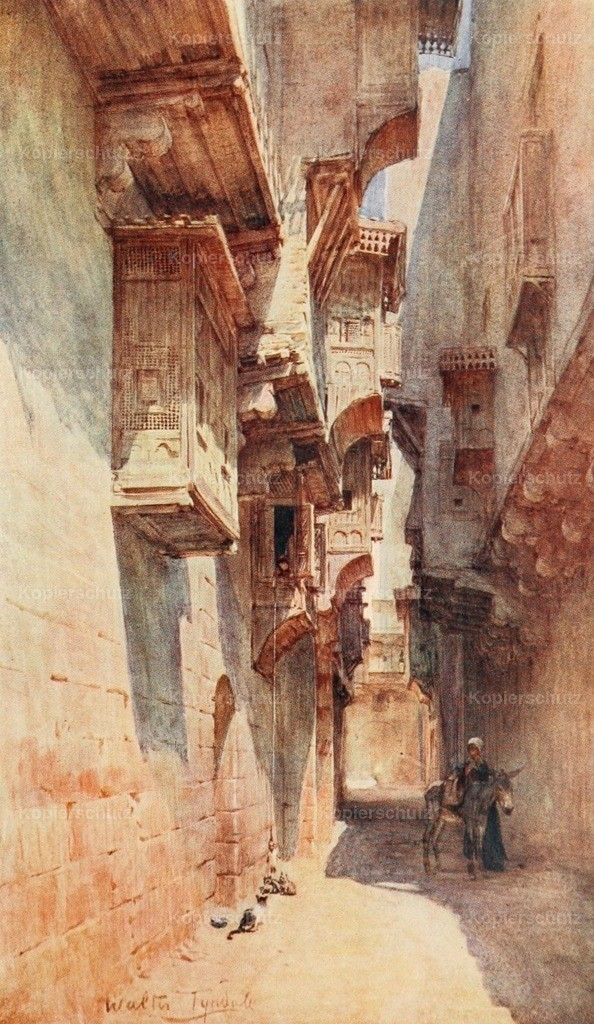 Tyndale_ W. (1855-1943) - Below the Cataracts 1907 - A lane in the Tulun quarter in Cairo