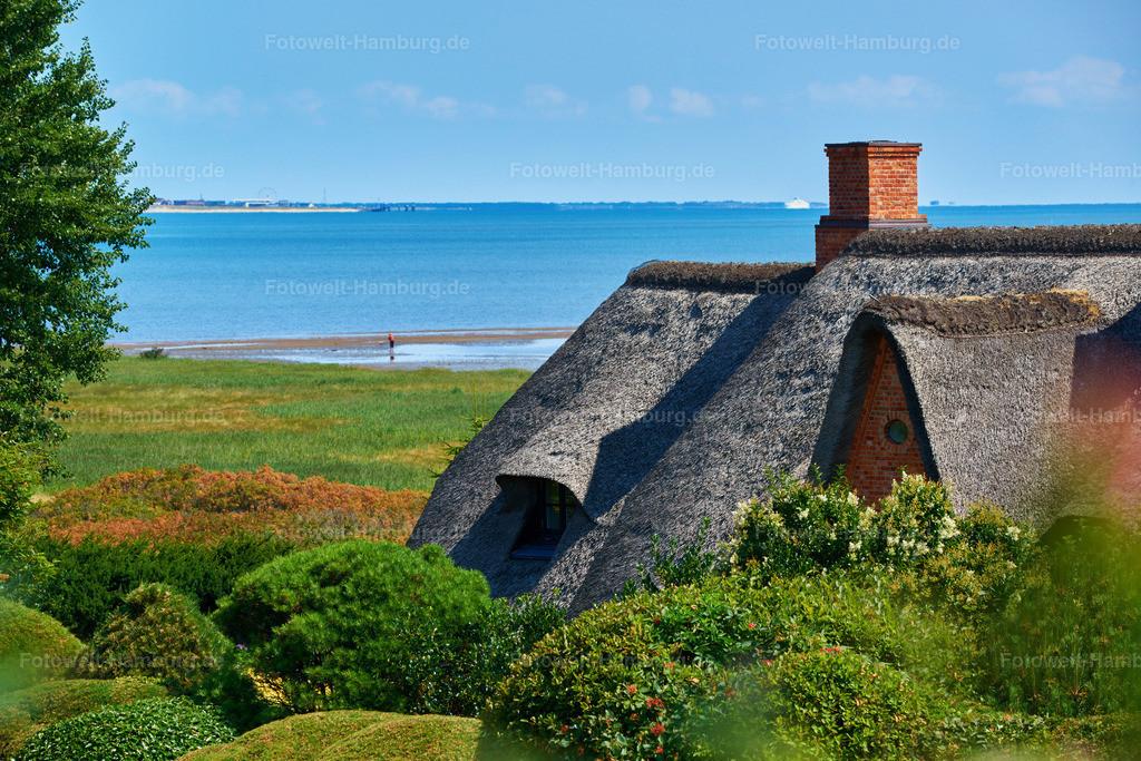 sylt reetdachhaus mit weitem ausblick bild auf leinwand