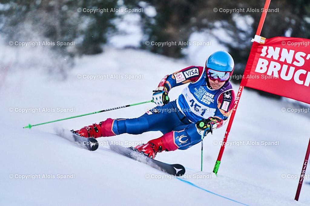 ALS5933_WWMG_GS-II_C   (C) FotoLois.com, Alois Spandl, WinterWorldMastersGames 2020 Innsbruck, Giant Slalom-II Gruppe C Damen, Patscherkofel Olympiaabfahrt, Mi 15. Jänner 2020.