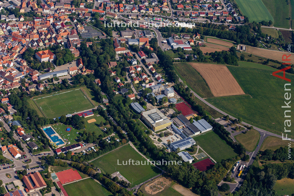 uffenheim-19-741   aktuelles Luftbild von  Uffenheim - Luftaufnahme wurde 2019 von https://frankenair.de mittels Flugzeug (keine Drohne) erstellt.