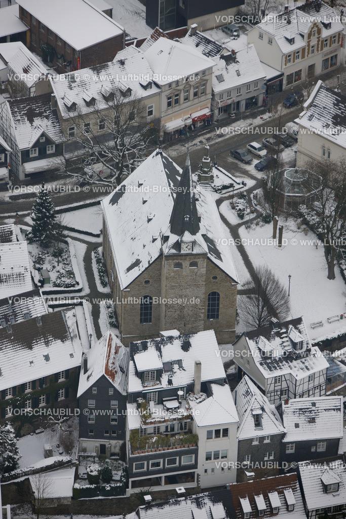 KT10011161 | Schnee,  Kettwig, Essen, Ruhrgebiet, Nordrhein-Westfalen, Deutschland, Europa, Foto: Luftbild Hans Blossey, Copyright: hans@blossey.eu, 06.01.2010, E 006° 56' 30.53