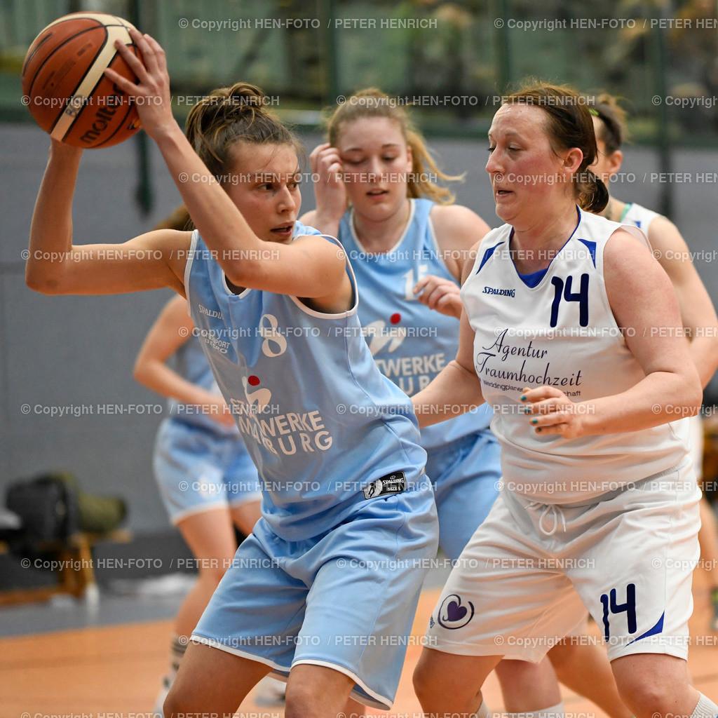 20200126 Basketball Damen Regionalliga BG Darmstadt-Rossdorf - BC Marburg coyright HEN-FOTO | 20200126 Basketball Damen Regionalliga BG Darmstadt-Rossdorf - BC Marburg li 8 Yvonne Bebel (M) re 14 Laura Kernbach (DA) coyright HEN-FOTO Peter Henrich