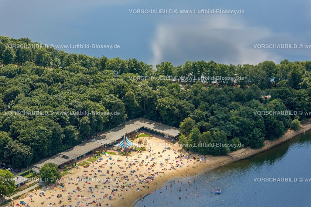 Haltern13081684 | Badesee, Halterner Stausee, Halterner See mit Seebad und Seeterasse, Luftbild von Haltern am See