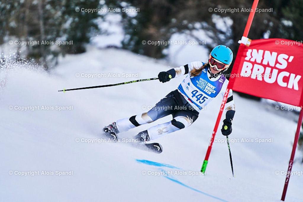 ALS5900_WWMG_GS-II_C   (C) FotoLois.com, Alois Spandl, WinterWorldMastersGames 2020 Innsbruck, Giant Slalom-II Gruppe C Damen, Patscherkofel Olympiaabfahrt, Mi 15. Jänner 2020.