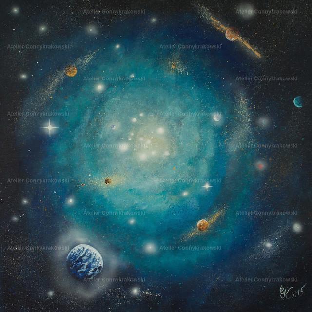 SterneC | Phantastischer Realismus aus dem Atelier Conny Krakowski. Verkäuflich als Poster, Leinwanddruck und vieles mehr.
