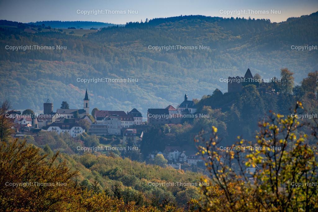 DSC_2228 | Panorama von Lindenfels mit Burg, katholischer und evangelischer Kirche