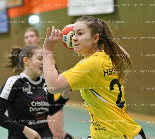Handball Oberliga HSG Weiterstadt - HSG Rodgau (34:33) copyright HEN-FOTO | Handball Oberliga weibliche A Jugend HSG Weiterstadt Braunshardt Worfelden - HSG Rodgau Nieder-Roden (34:33) v li 6 Kim Weiland (N) 22 Julia Heyd (W) copyright + Foto: Peter Henrich (HEN-FOTO)