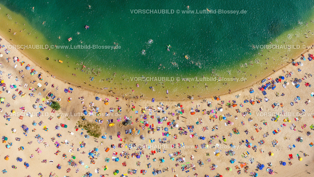 Haltern13081746b | Silbersee II aus der Luft, Sandstrand und türkisfarbenes Wasser, Luftbild von Haltern am See