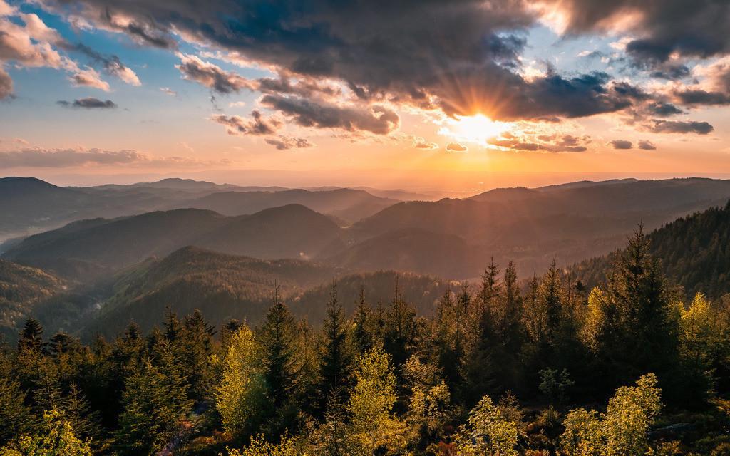 Nationalpark Schwarzwald | Traumhafte Abendstimmung an der Schwarzwaldhochstraße