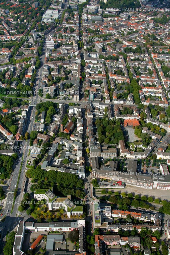 ES10094213 | Ruettenscheider Strasse, Luftbild,  Essen, Ruhrgebiet, Nordrhein-Westfalen, Germany, Europa, Foto: hans@blossey.eu, 05.09.2010