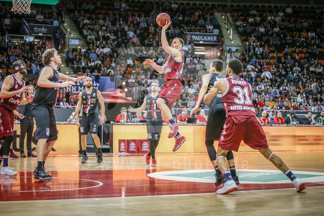 180407_AF_FCBB_377 | Anton Gavel #25 (FC Bayern Basketball) beim Wurf , FC Bayern Basketball vs. Giessen 46ers, Basketball, BBL, 07.04.2018