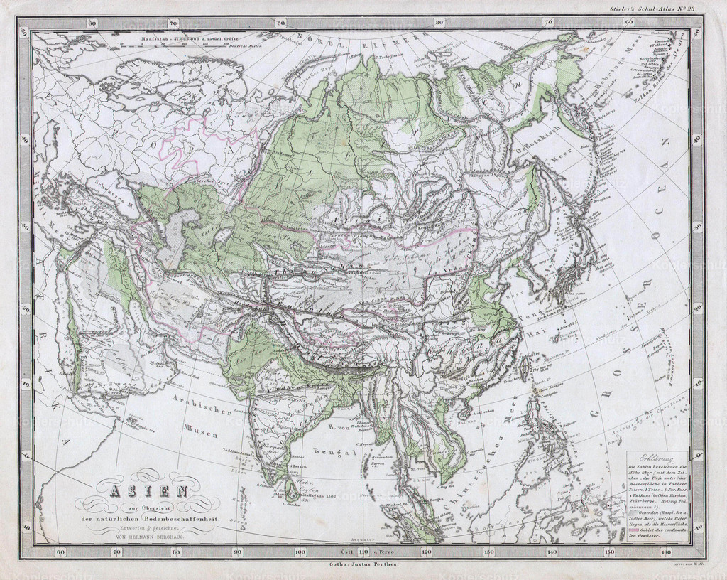 1862_Perthes_Physical_Map_of_Asia